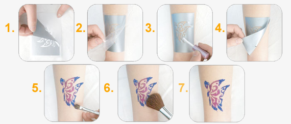 Jak na třpytivé (glitter) tetování
