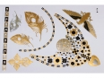 Gold Silver Black | Jewelry Flash Tattoo stickers W-116, 21x15cm