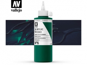 Vallejo Acrylic Studio 22006 Phtalo Green (200ml)