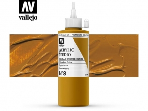Vallejo Acrylic Studio 22008 Yellow Iron Oxide (200ml)
