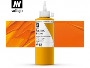 Vallejo Acrylic Studio 22013 Azo Yellow Orange (200ml)