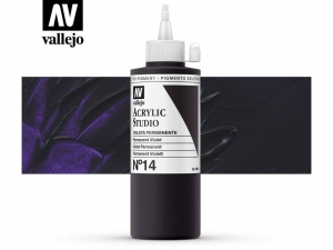 Vallejo Acrylic Studio 22014 Permanent Violet (200ml)