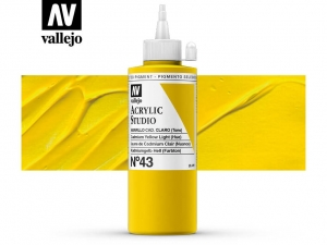 Vallejo Acrylic Studio 22043 Cadmium Yellow Light (Hue) (200ml)