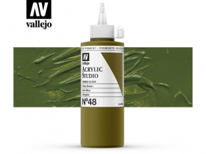 Vallejo Acrylic Studio 22048 Olive Green (200ml)