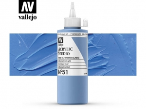 Vallejo Acrylic Studio 22051 Ultramarine Light (200ml)