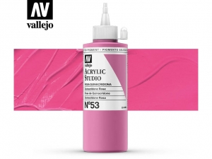 Vallejo Acrylic Studio 22053 Quinacridone Rose (200ml)