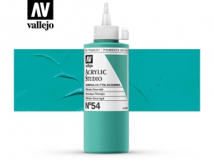 Vallejo Acrylic Studio 22054 Phthalo Emerald (200ml)