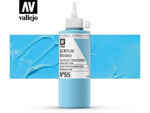 Vallejo Acrylic Studio 22055 Phthalo Blue Pale (200ml)
