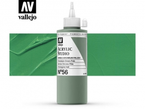 Vallejo Acrylic Studio 22056 Chromium Green Pale (200ml)