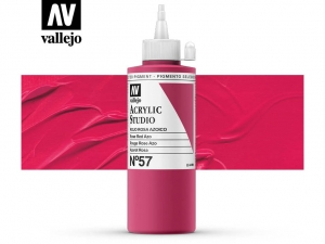 Vallejo Acrylic Studio 22057 Rose Red Azo (200ml)