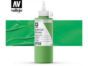 Vallejo Acrylic Studio 22059 Green Light (200ml)