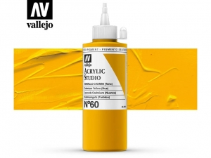 Vallejo Acrylic Studio 22060 Cadmium Yellow (Hue) (200ml)