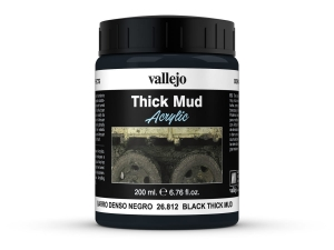 Vallejo Diorama Effects 26812 Black Thick Mud (200ml)