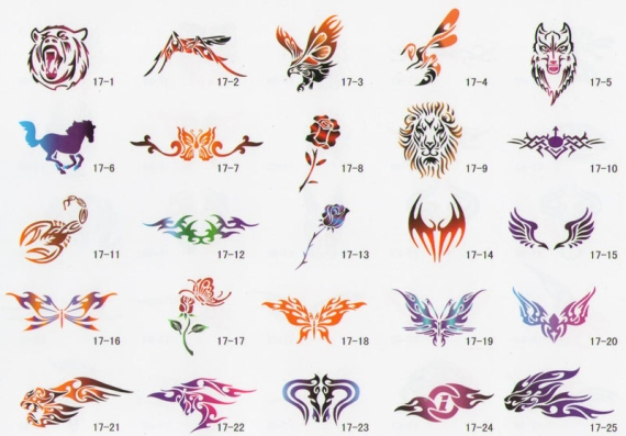 Airbrush tattoo book